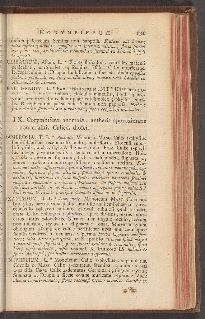 Antonii Laurentii de Jussieu ... Genera plantarum secundum ordines naturales disposita : juxta methodum in horto regio Parisiensi exaratam, anno M.DCC.LXXIV