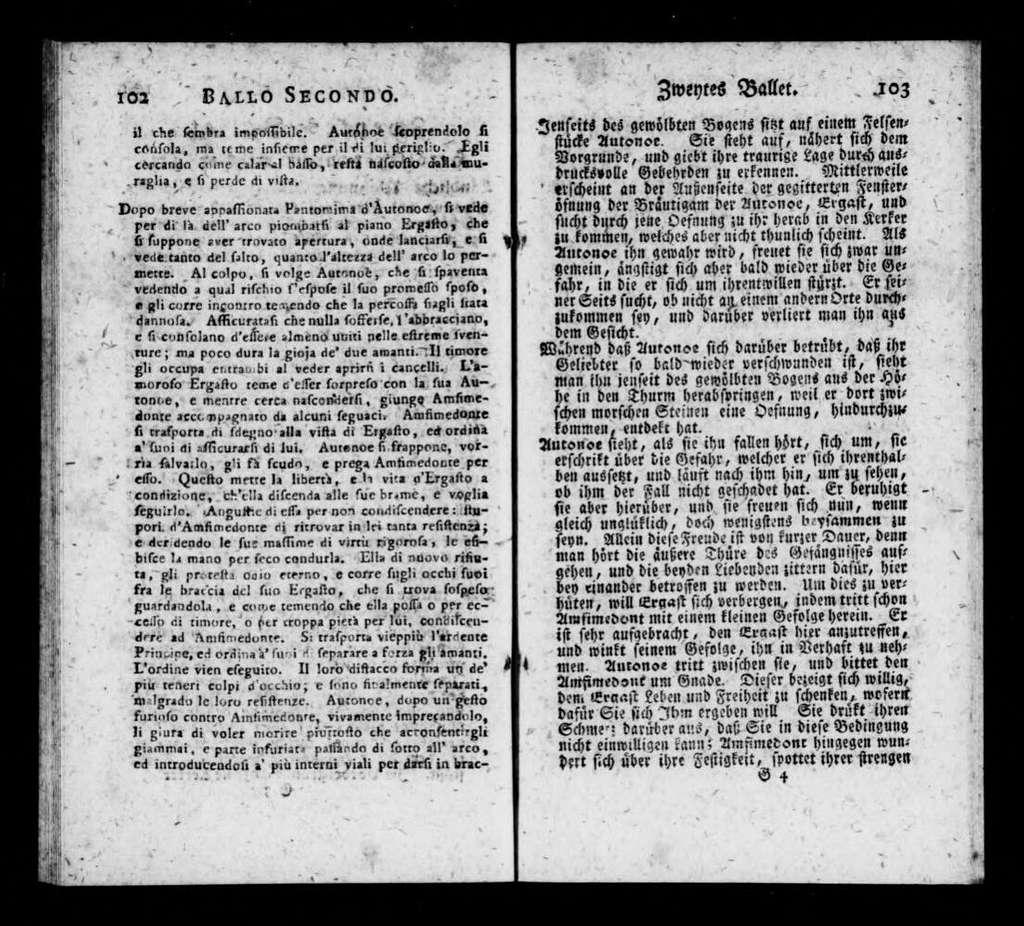 Ritorno di Ulisse a Penelope. Libretto. German & Italian