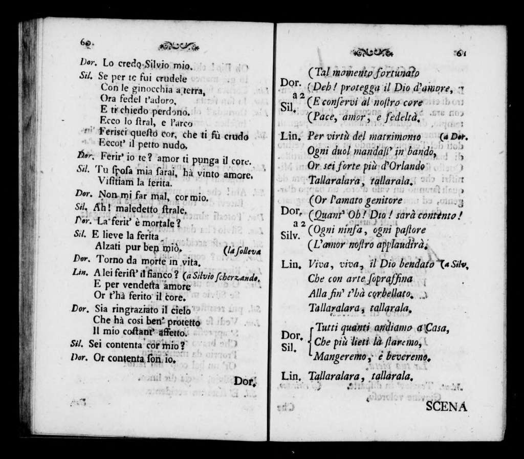 Trionfo della Costanze. Libretto. Italian