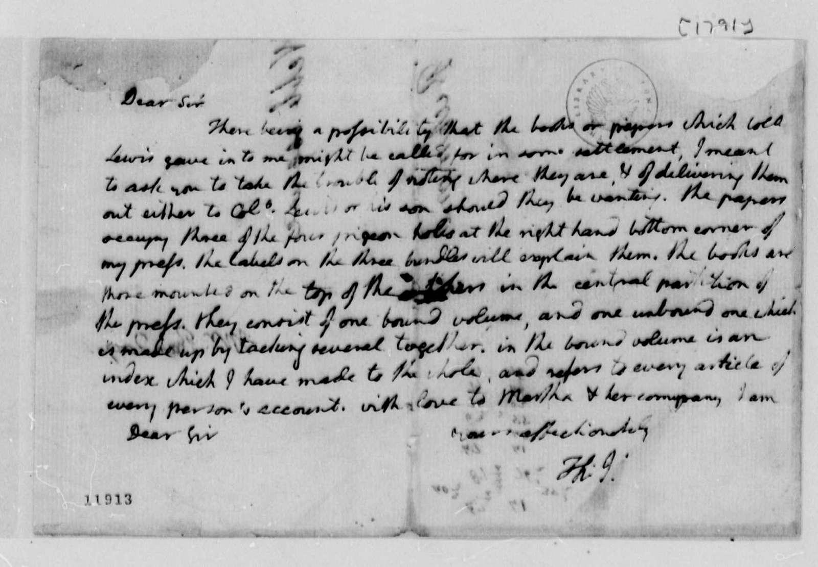 Thomas Jefferson to Thomas Mann Randolph, Jr., 1791