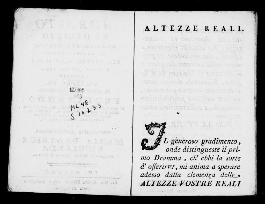 Divertimento (ballo). 1792