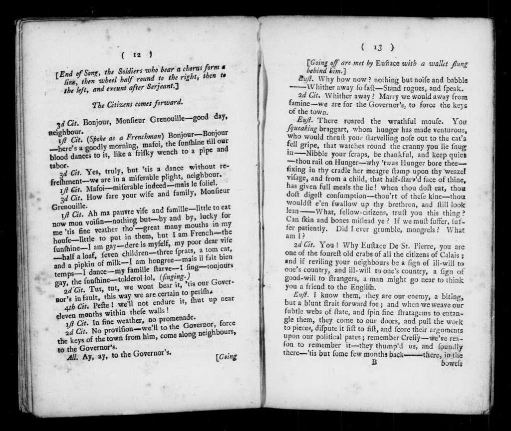 Surrender of Calais. Libretto. Libretto. English