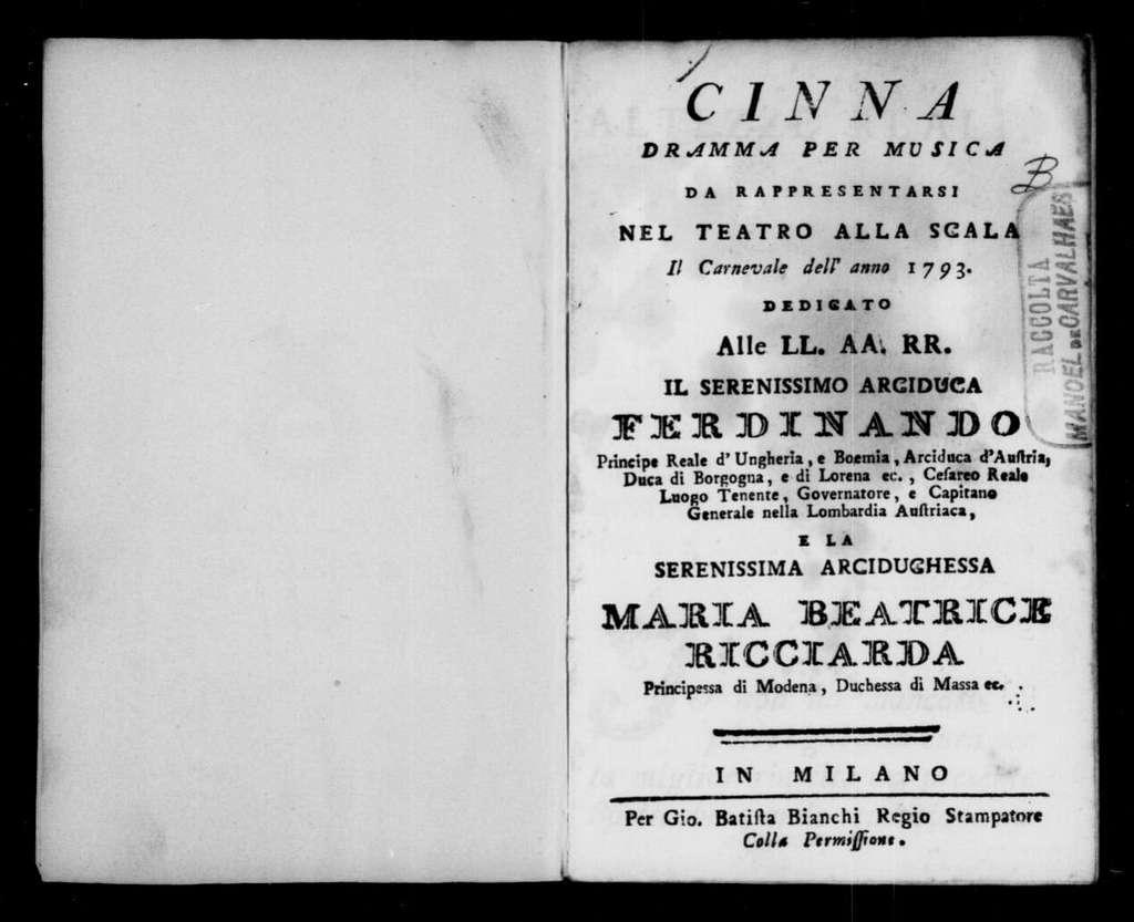 Divertimento campestre (ballo). 1793