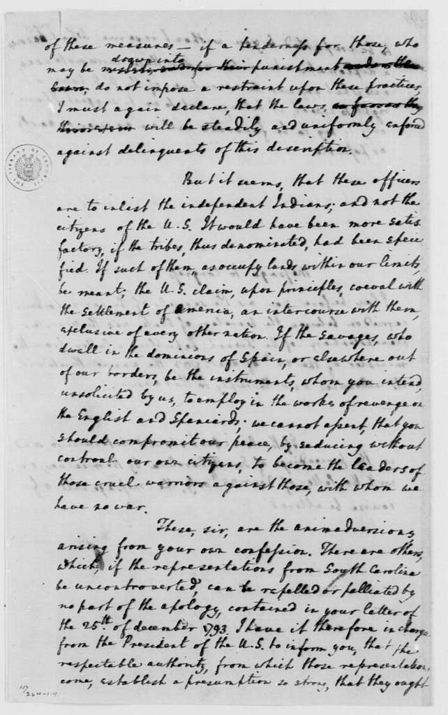 George Washington Papers, Series 4, General Correspondence: Edmund Randolph to George Washington, January 13, 1794