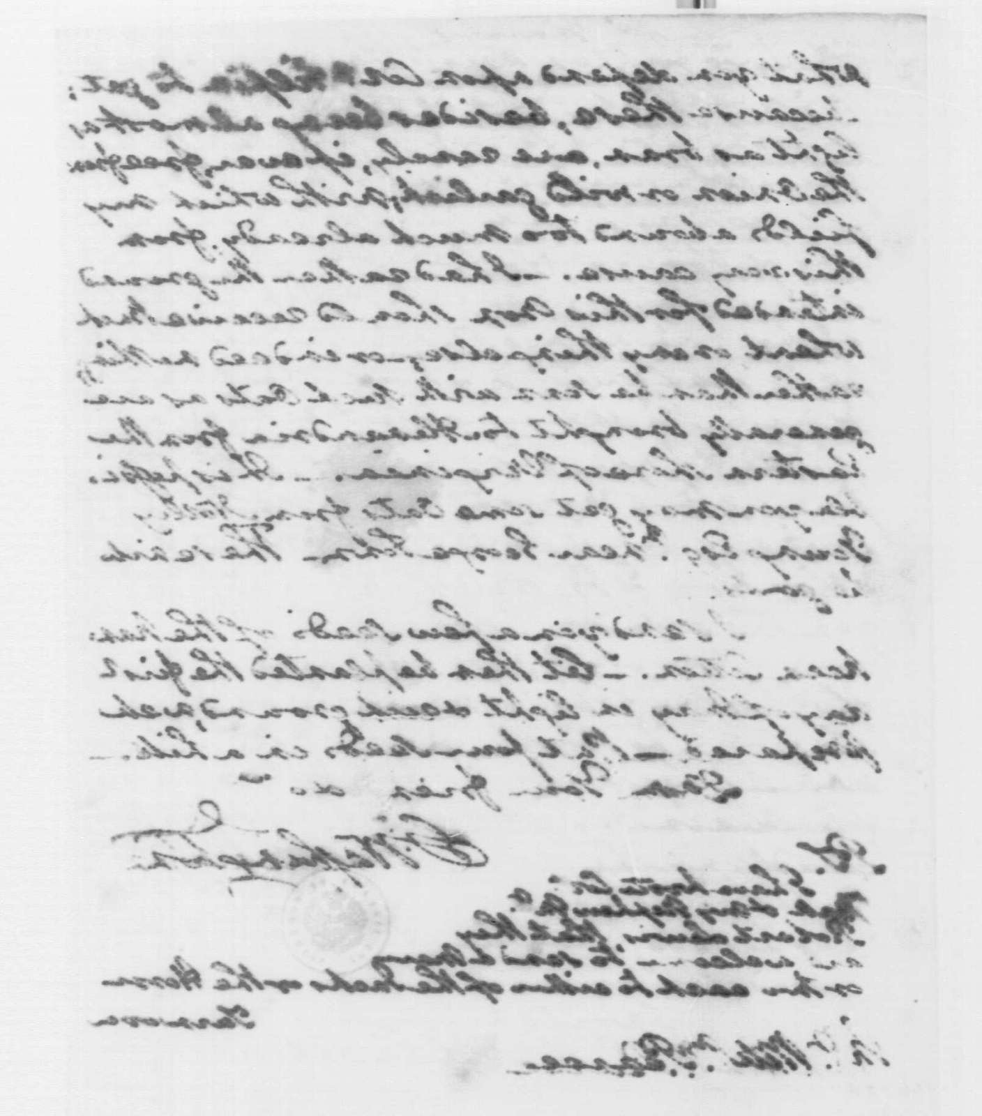 George Washington Papers, Series 4, General Correspondence: George Washington to William Pearce, March 16, 1794