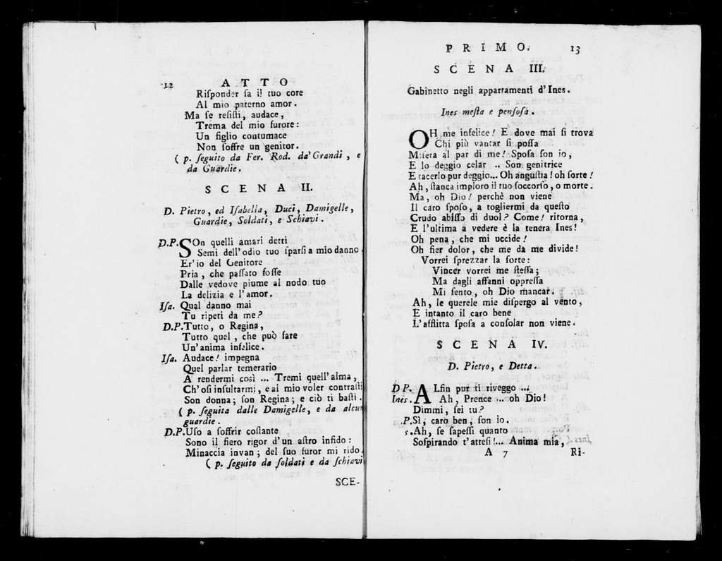 Ines de Castro : dramma per musica da rappresentarsi nel nobilissimo Teatro Venier in San Benedetto l'autunno dell'anno 1795