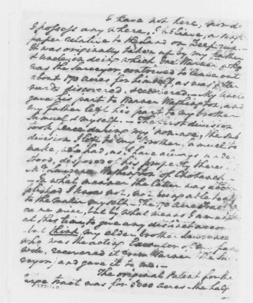 George Washington Papers, Series 4, General Correspondence: George Washington to Robert Lewis, December 19, 1796