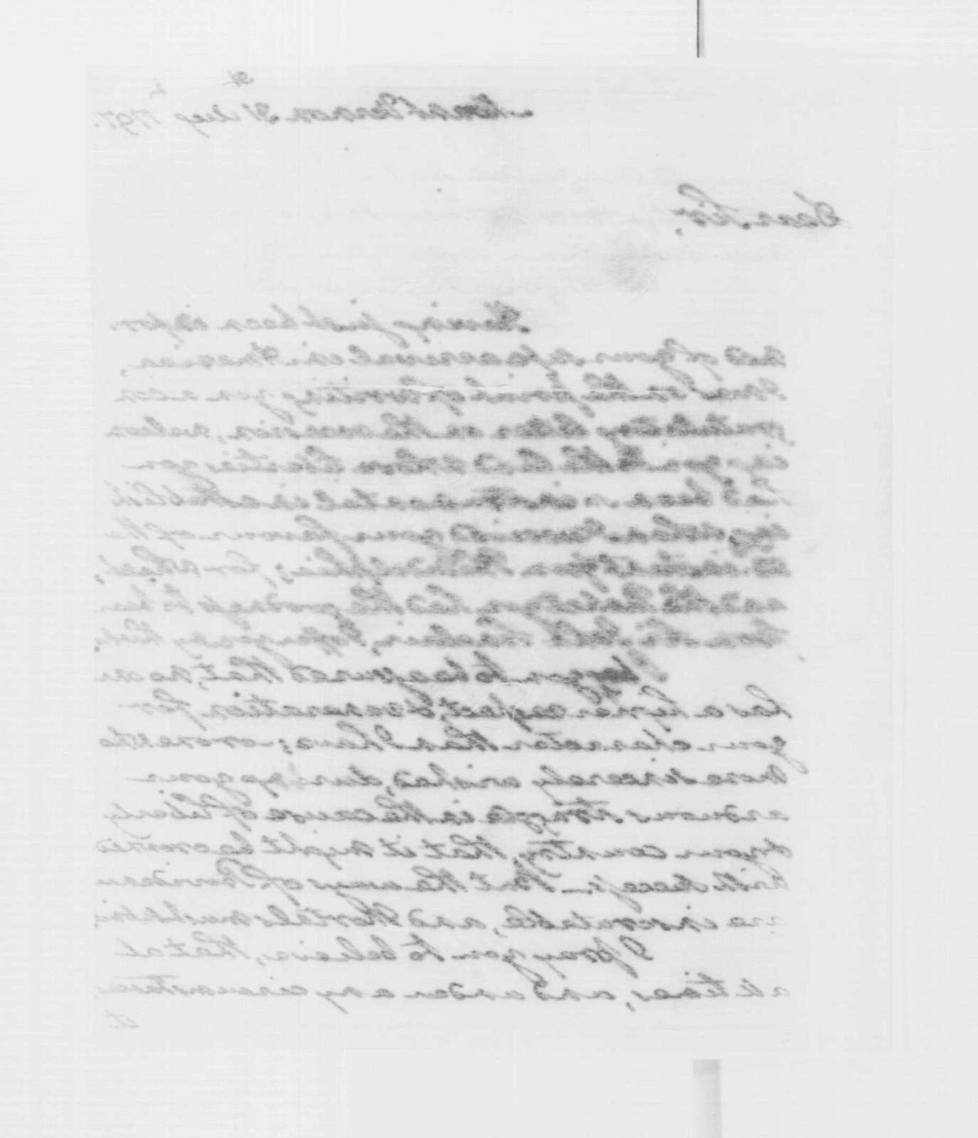 George Washington Papers, Series 4, General Correspondence: George Washington to Thaddeus Kosciuszko, August 31, 1797