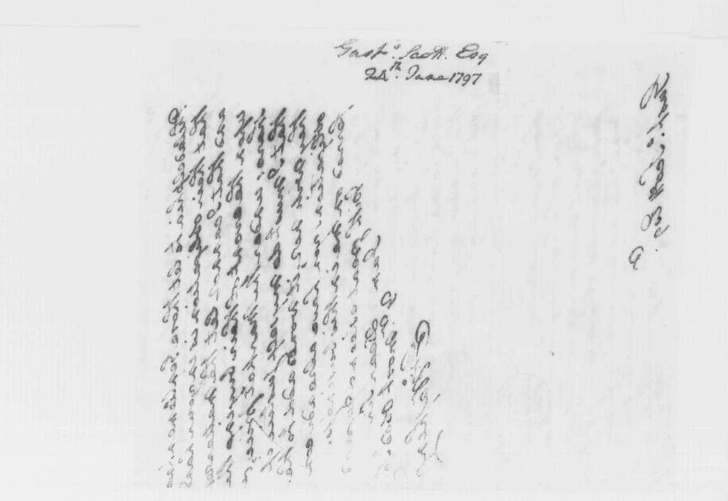 George Washington Papers, Series 4, General Correspondence: George Washington to Gustavus Scott, June 24, 1797