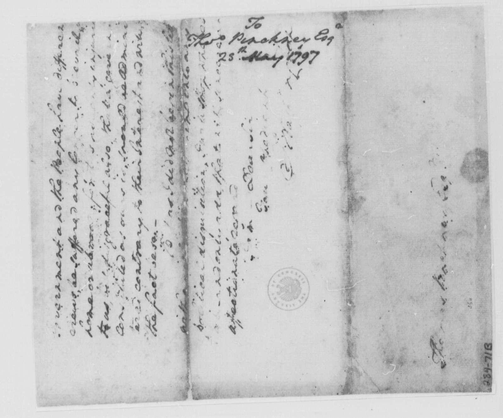 George Washington Papers, Series 4, General Correspondence: George Washington to Thomas Pinckney, May 28, 1797