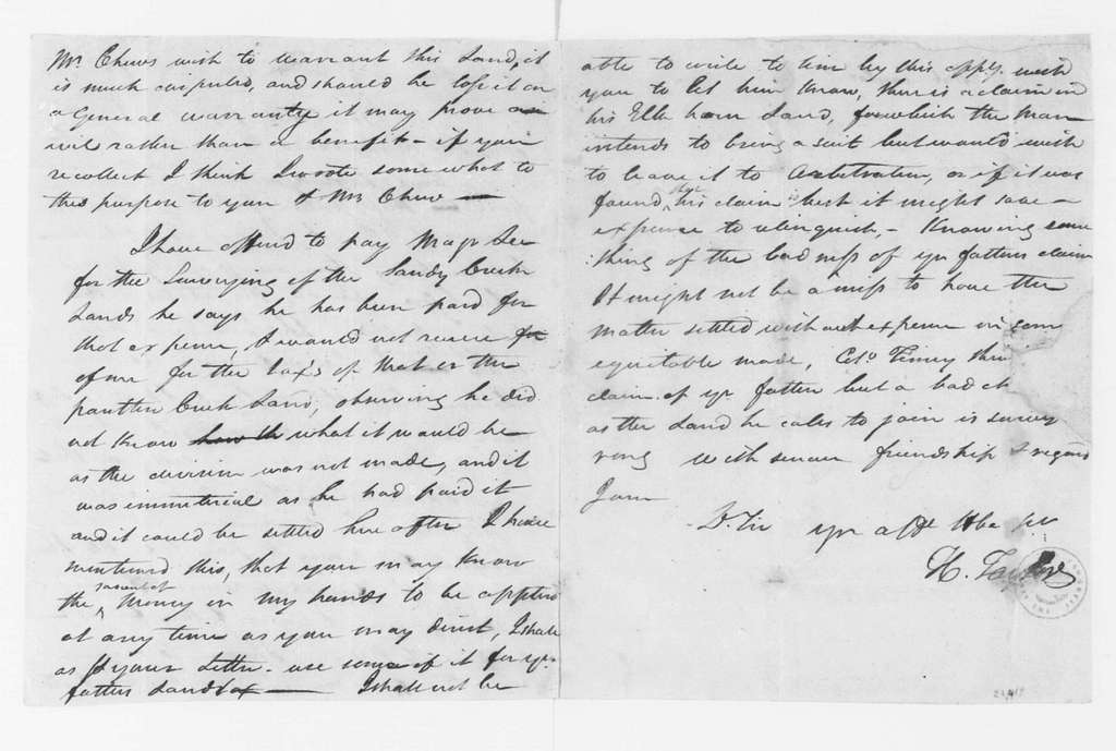 Hubbard Taylor to James Madison, October 8, 1797