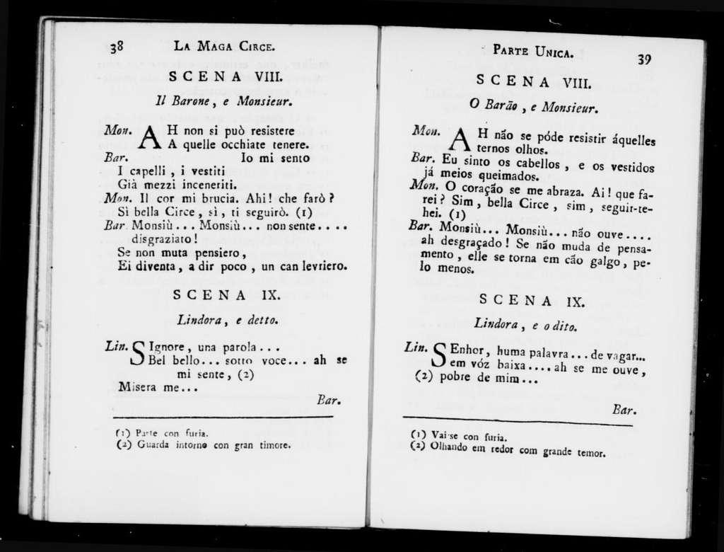 Maga Circe. Libretto. Portuguese & Italian