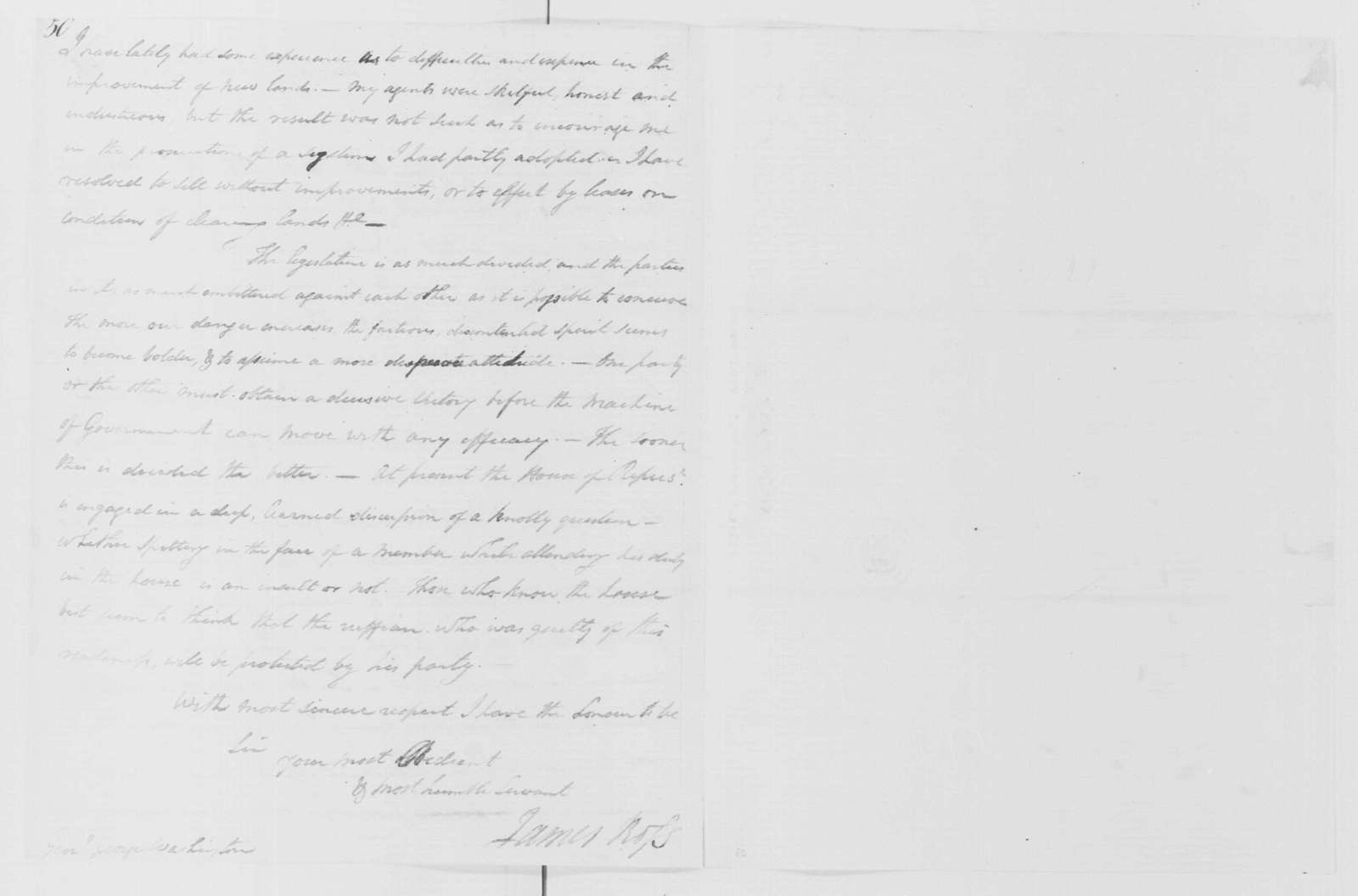 George Washington Papers, Series 4, General Correspondence: James Ross to George Washington, February 2, 1798