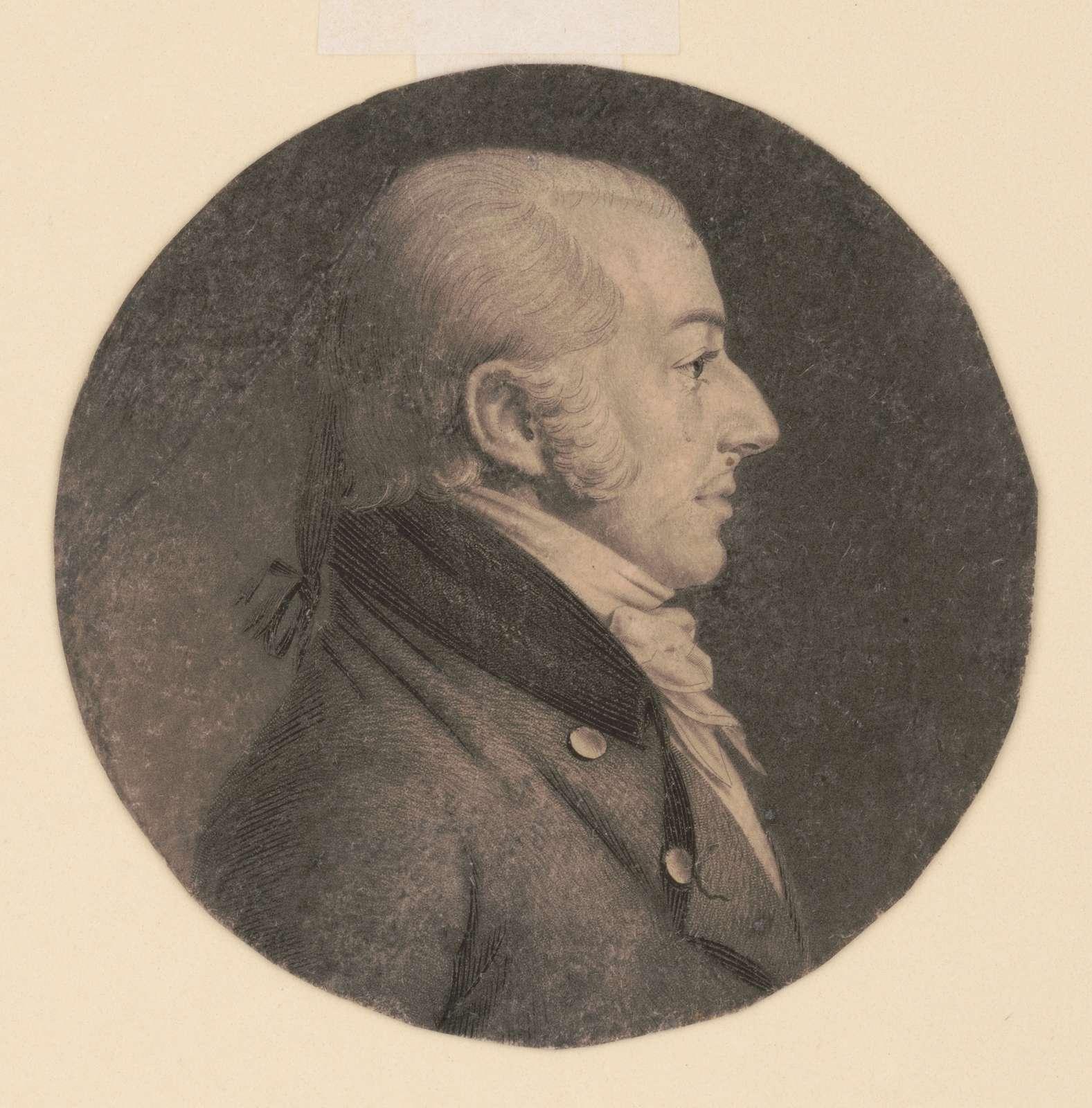 John Rhea Smith, head-and-shoulders portrait, right profile
