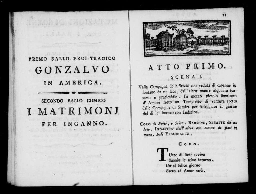 Matrimonj per inganno (ballo). 1799