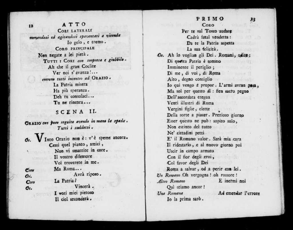 Oracolo (ballo). Scenario. Scenario. Italian. 1799