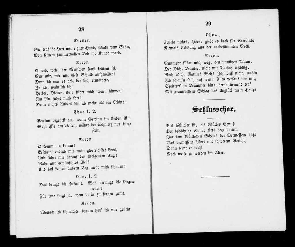 Antigone. Libretto. German