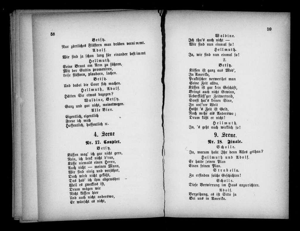 Blindekuh. Libretto. German