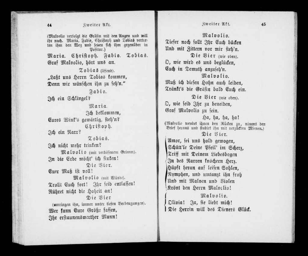 Cesario. Libretto. German