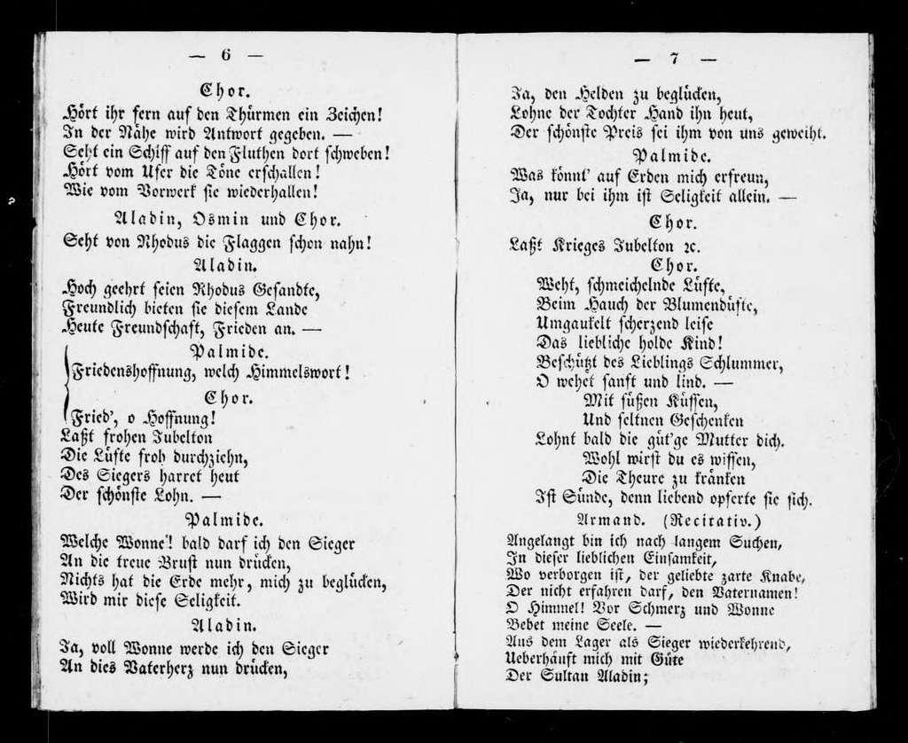 Crociato in Egitto. Libretto. German