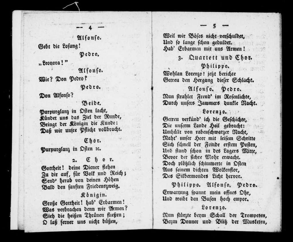 Fernando. Libretto. German