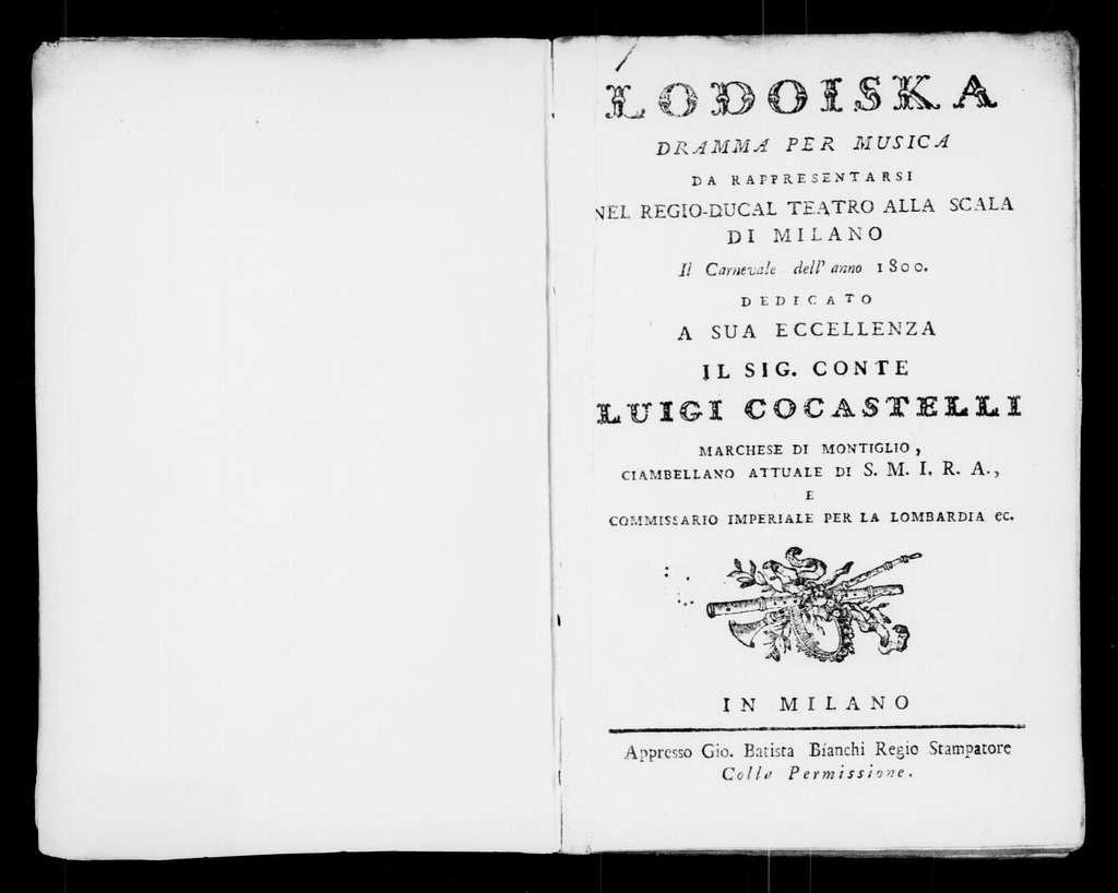 Ginevra di Scozia (ballo eroico pantomimo). Scenario. Scenario. Italian. 1800