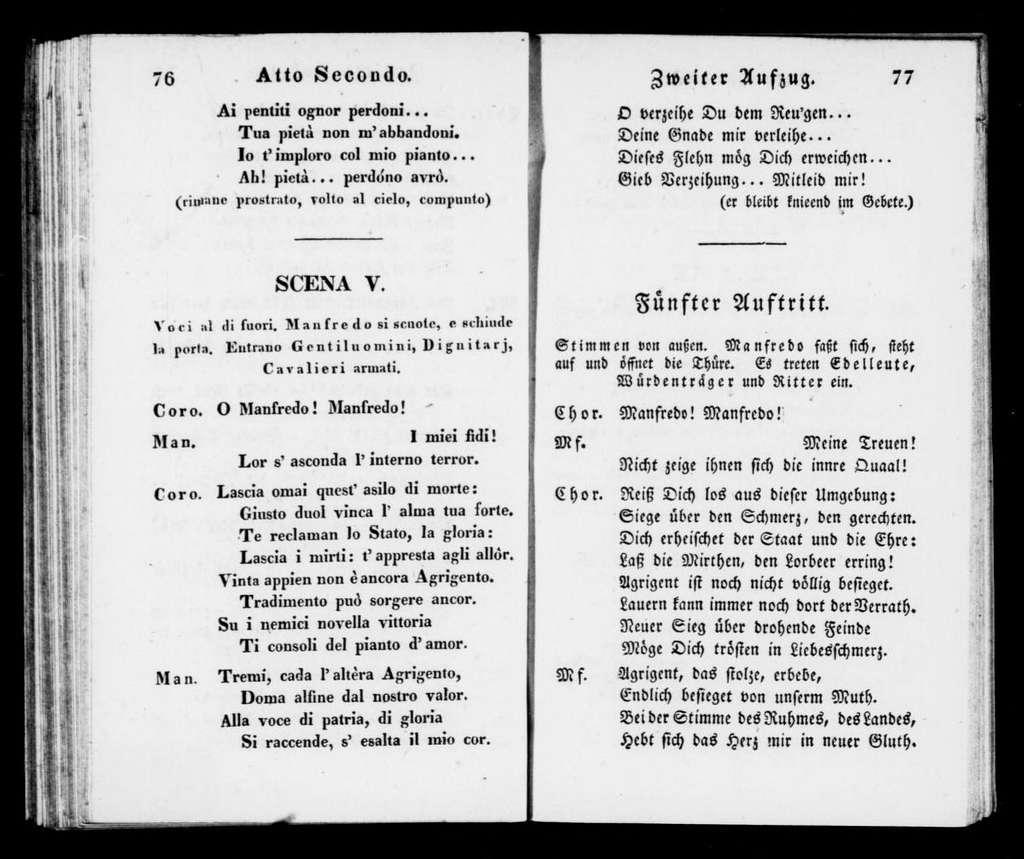 Giuramento. Libretto. German & Italian