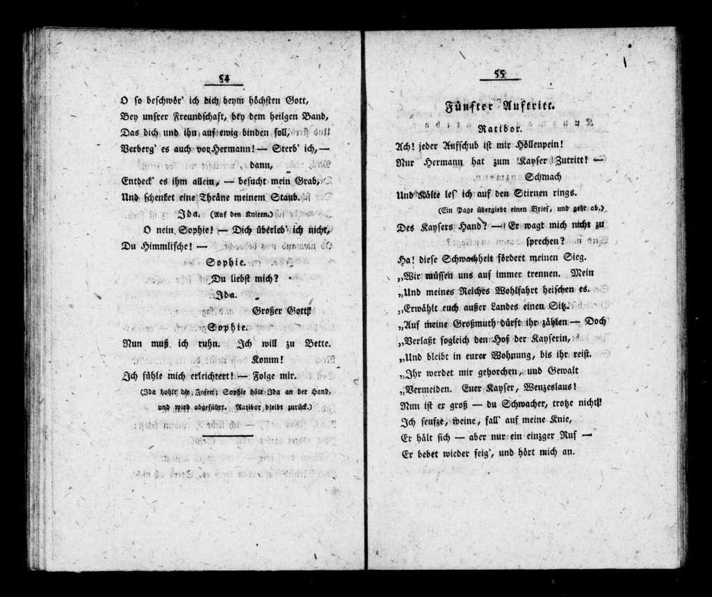 Hermann von Unna. Libretto. German