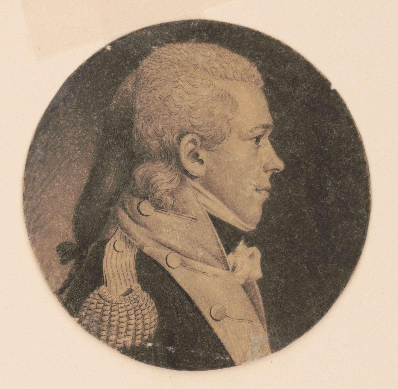 John Chew Thomas, head-and-shoulders portrait, right profile