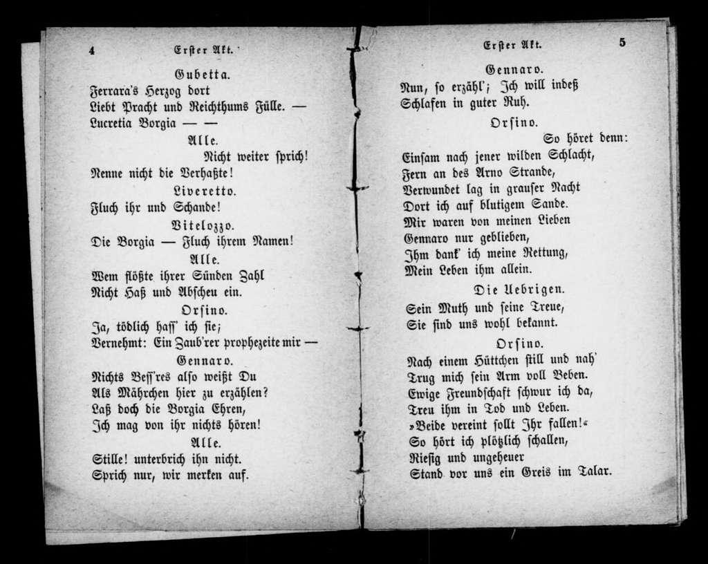 Lucrezia Borgia. Libretto. German