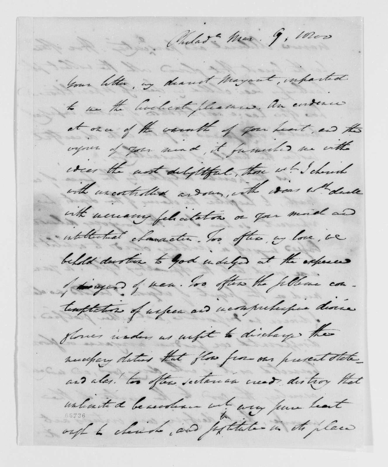 Margaret Bayard Smith Papers: Family Correspondence, 1789-1842; Smith, Samuel Harrison (husband); 1800, Jan.-Apr