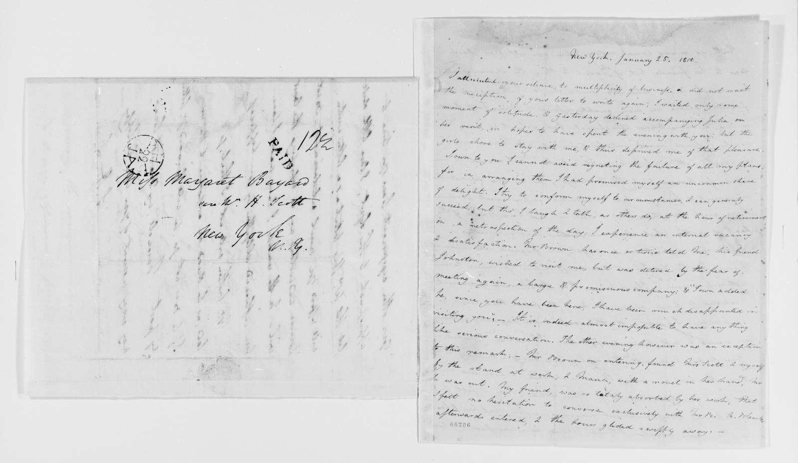 Margaret Bayard Smith Papers: Family Correspondence, 1789-1842; Smith, Samuel Harrison (husband); 1800, Jan.-Apr