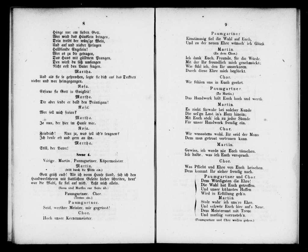 Meister Martin und seine Gesellen. Libretto. German