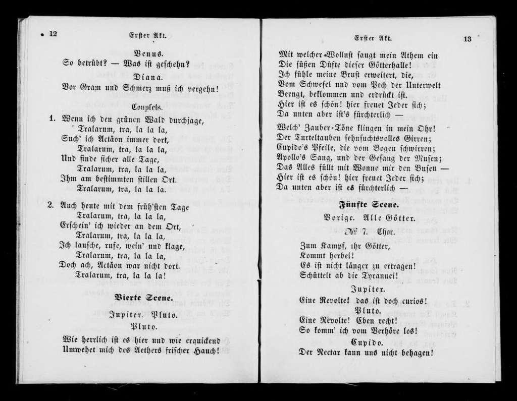Orphée aux enfers. Libretto. German