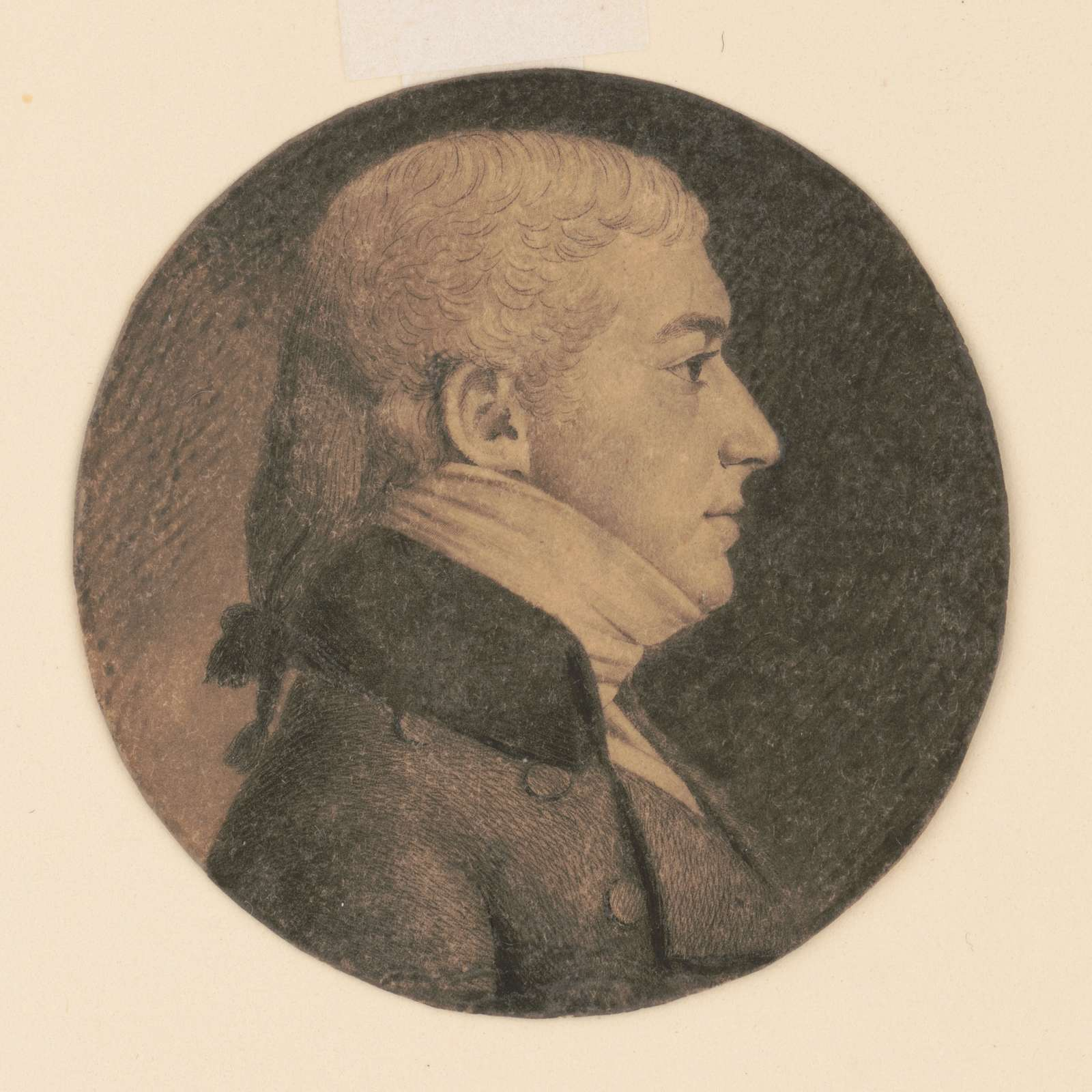 Pierre Françoise DuBourg, head-and-shoulders portrait, right profile