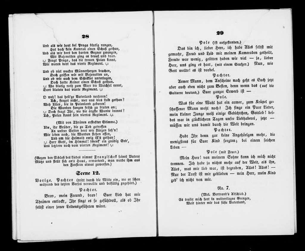 Pole und sein Kind. Libretto. Libretto. German
