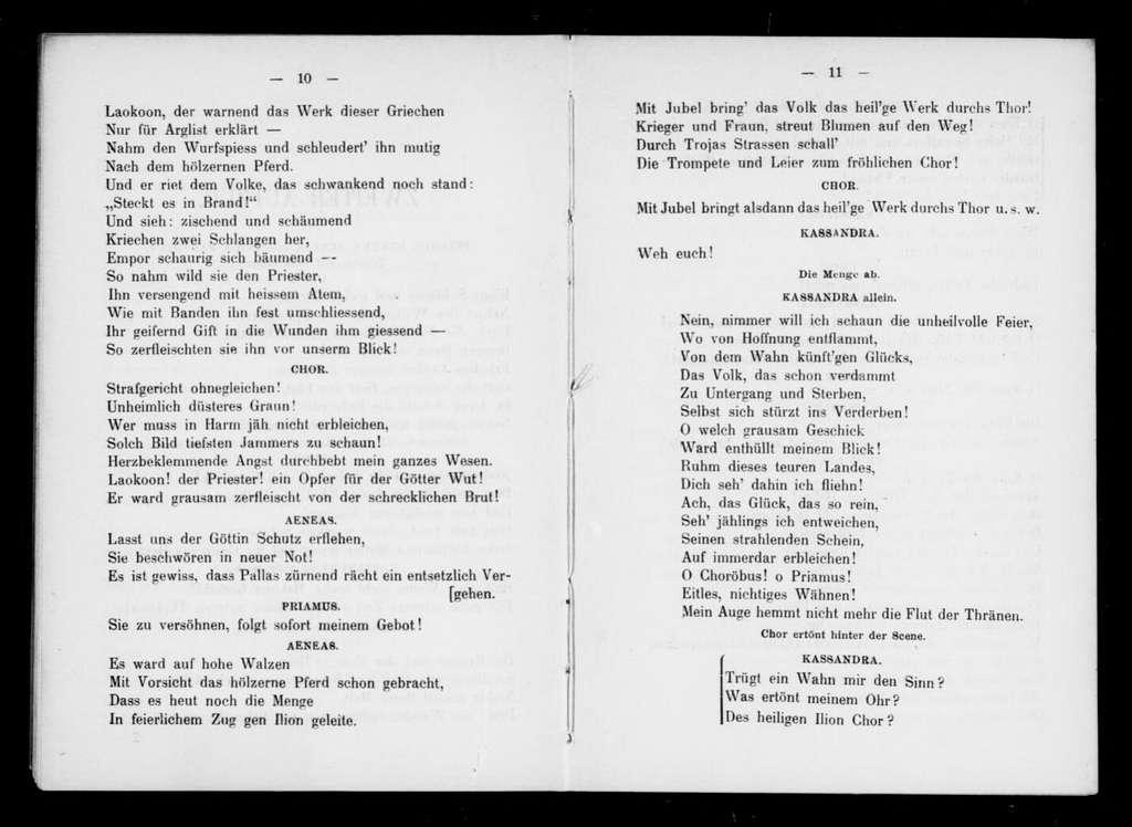 Prise de Troie. Libretto. German