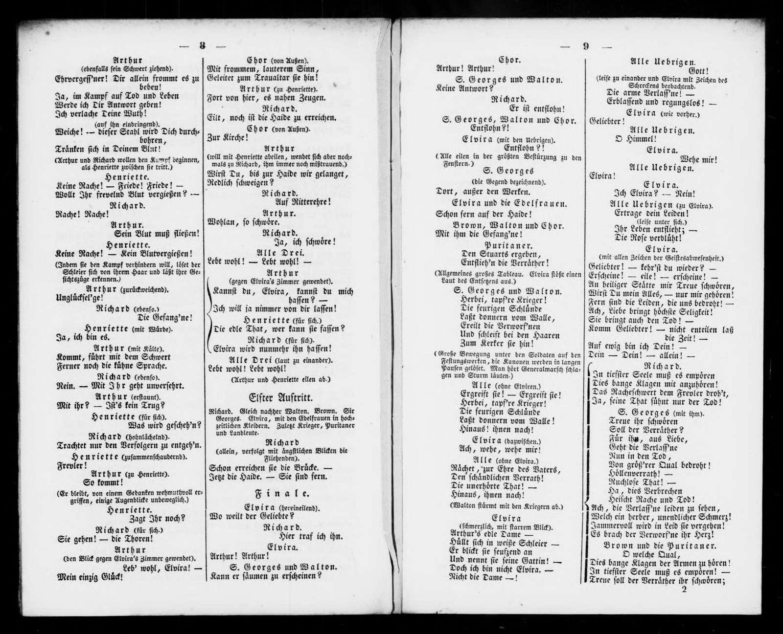 Puritani. Libretto. German