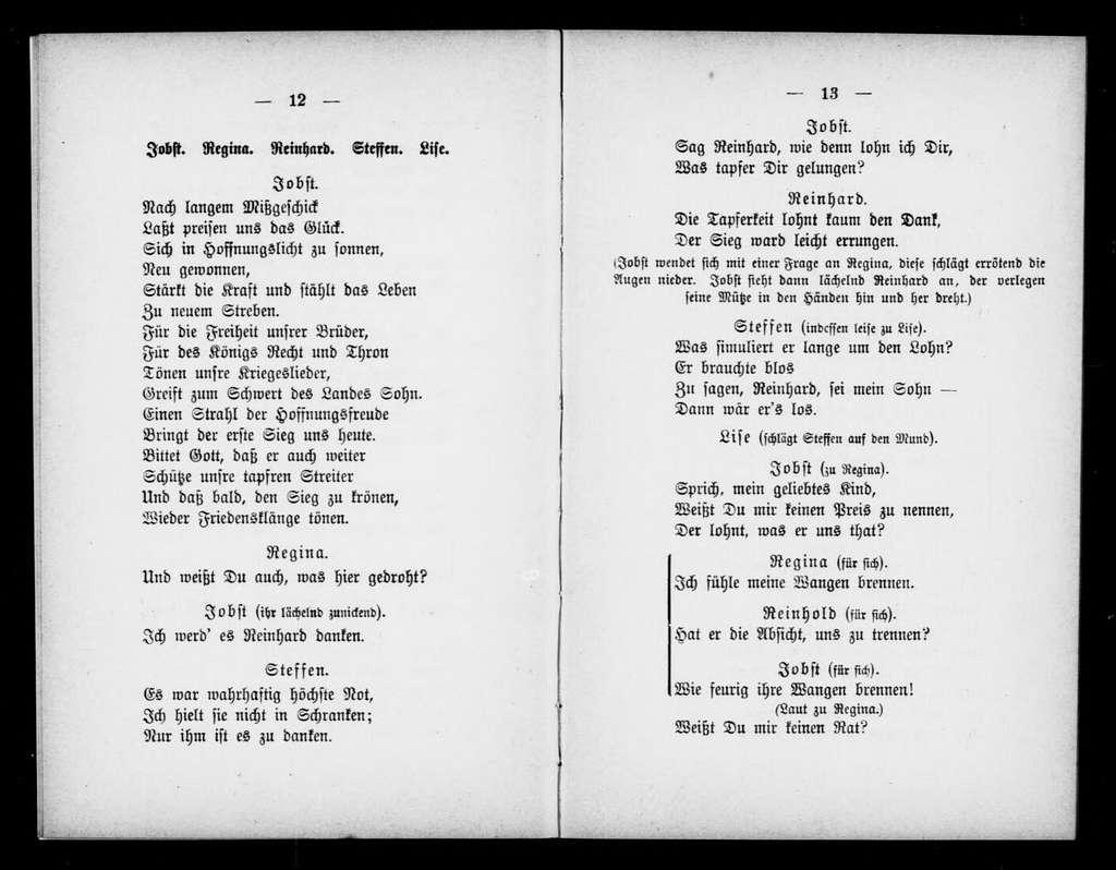 Regina. Libretto. German
