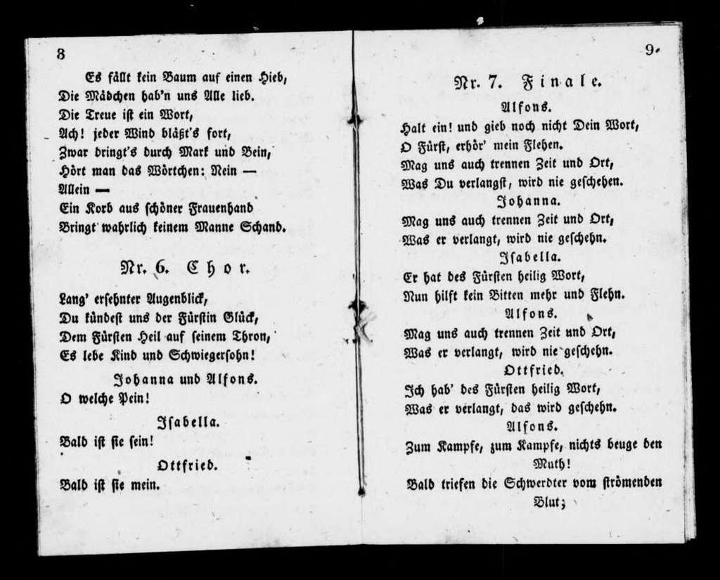 Rolands Knappen. Libretto. German