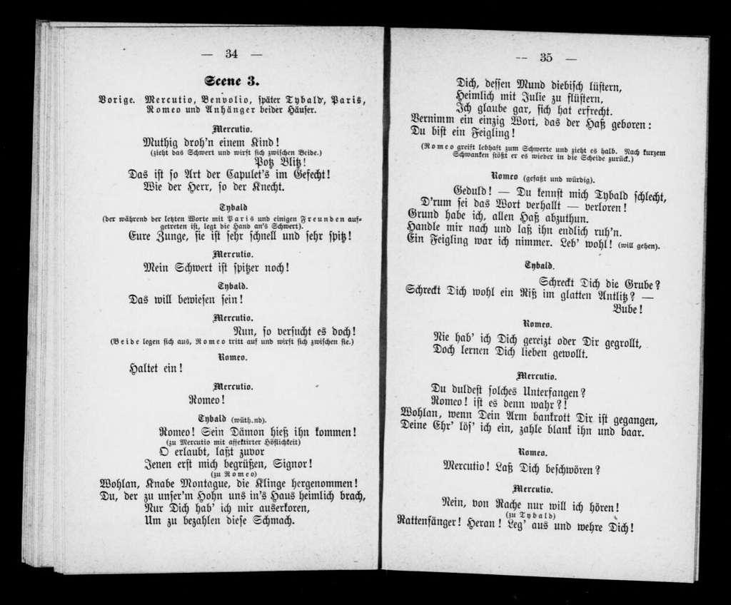 Roméo et Juliette. Libretto. German