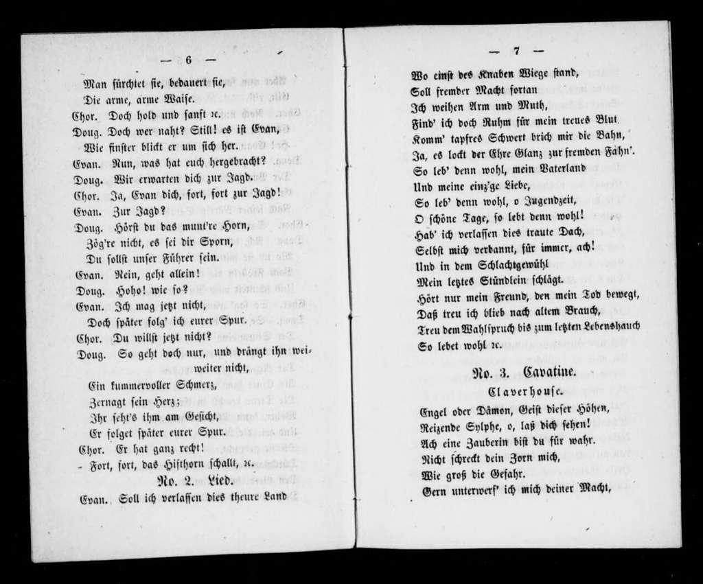 Sarah. Libretto. German