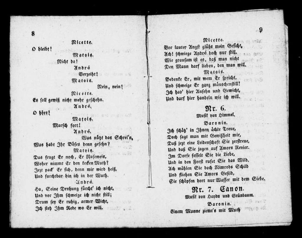Schüler-Schwänke. Libretto