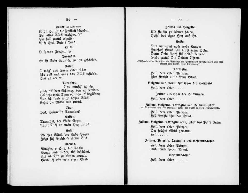 Turandot. Libretto. German