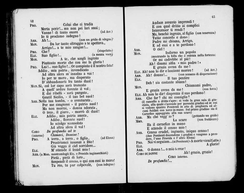 Vêpres siciliennes. Libretto. Italian