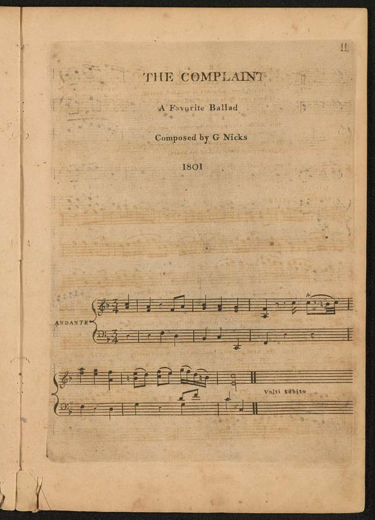 A selection of the most admired ballads taken from the newest comic operas and Vauxhall entertainments