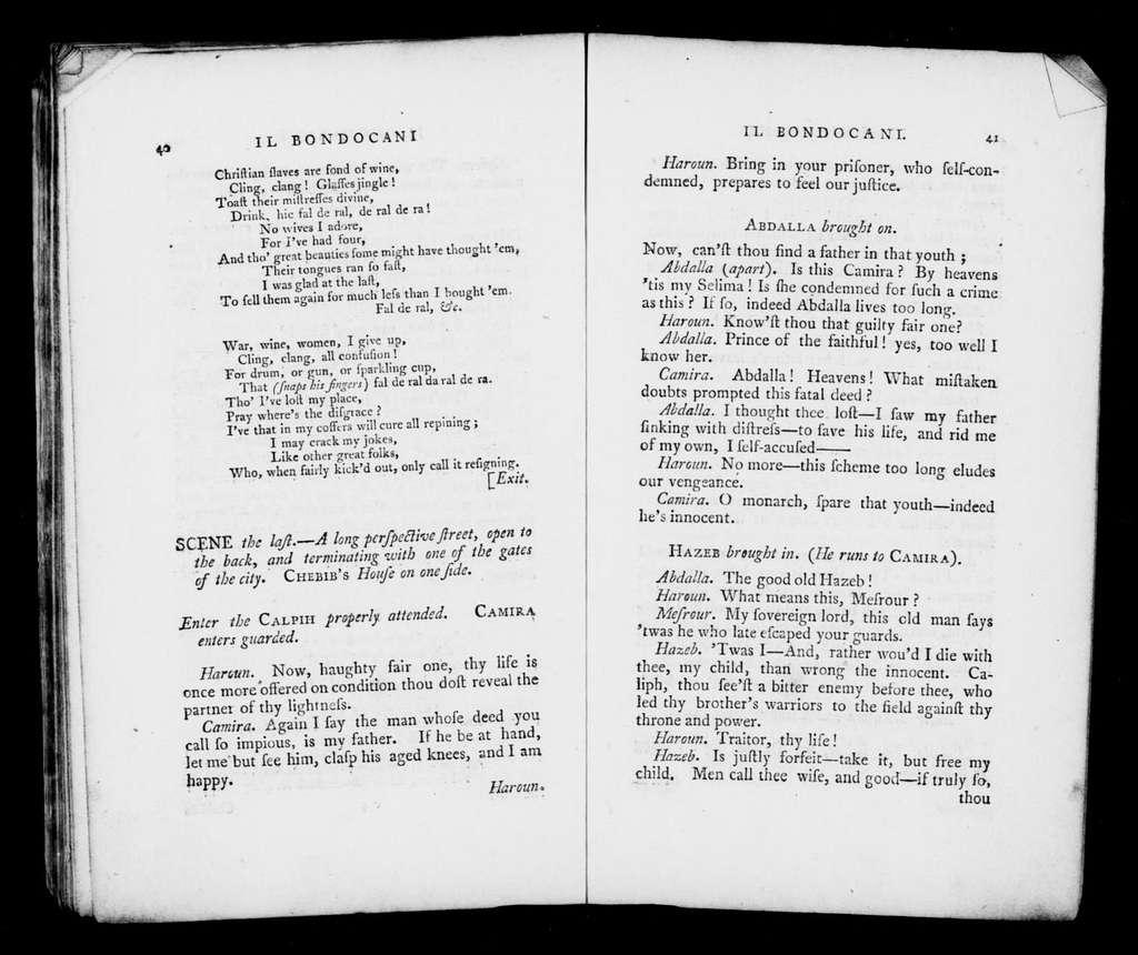 Bondocani. Libretto. English