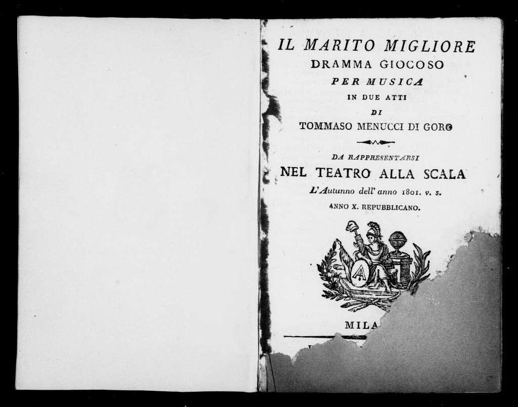 Marito migliore. Libretto. Italian