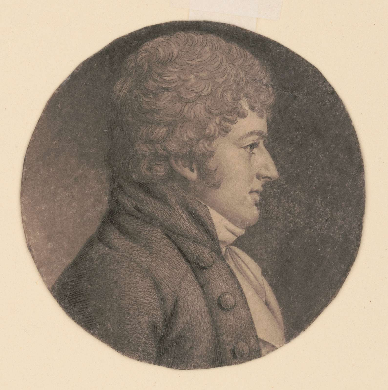 Anthony Fothergill, head-and-shoulders portrait, right profile
