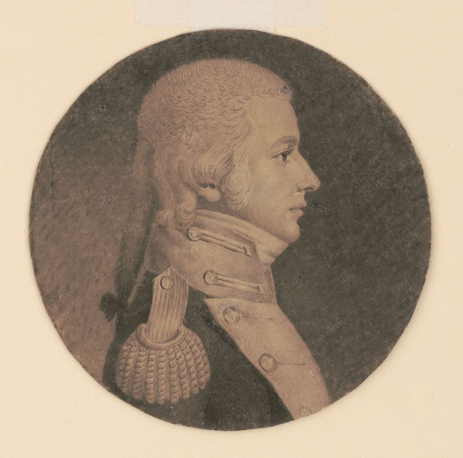 Charles Stewart, head-and-shoulders portrait, right profile